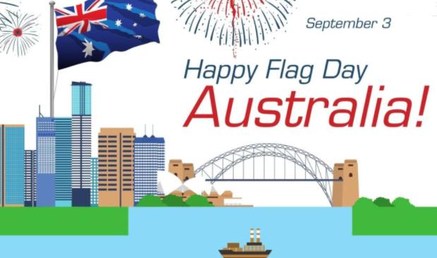 Happy National flag day Australia